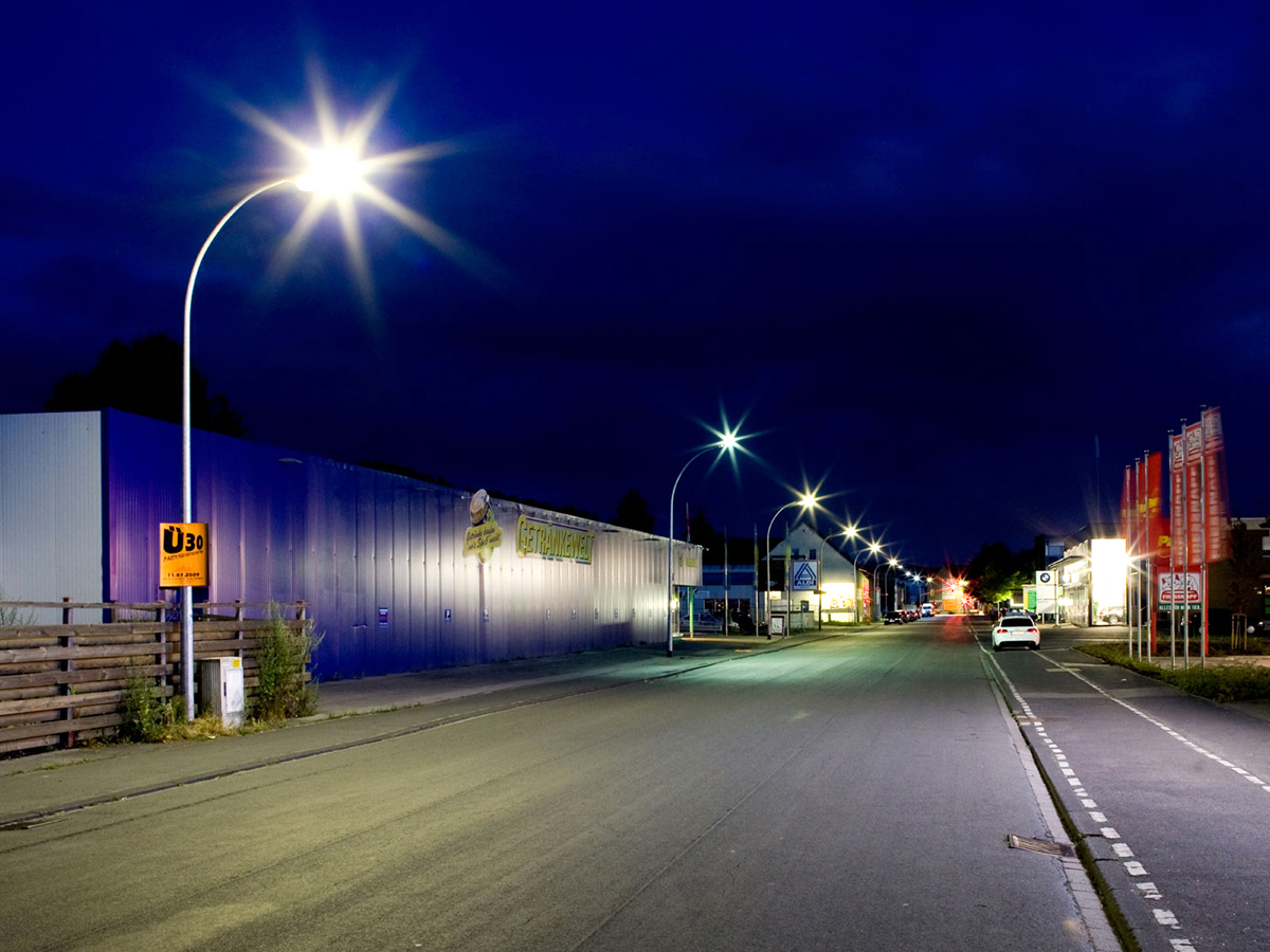 Strassenbeleuchtung mit LED Lampe